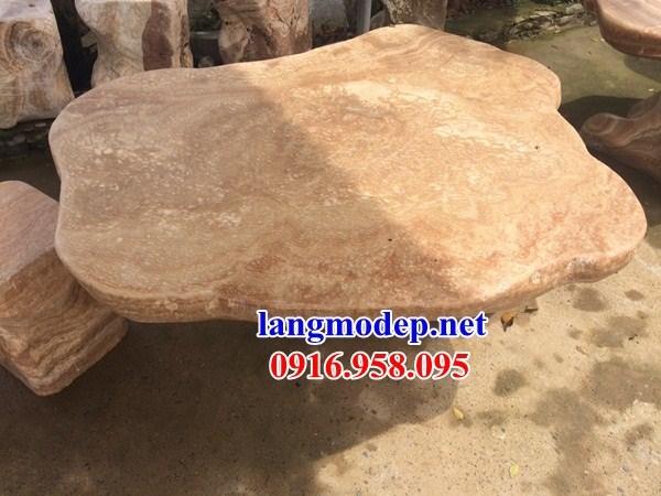 Mẫu bộ bàn ghế đá vàng tự nhiên ninh bình đẹp