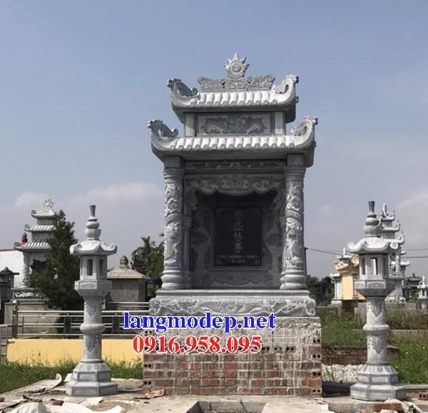 Mẫu cây hương thờ chung nghĩa trang gia đình dòng họ bằng đá tự nhiên nguyên khối tại Cần Thơ