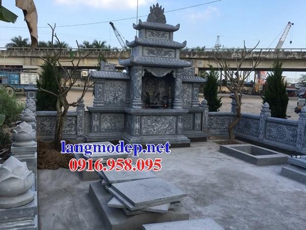 Mẫu cây hương thờ chung nghĩa trang gia đình dòng họ bằng đá xanh Thanh Hóa tại Cần Thơ