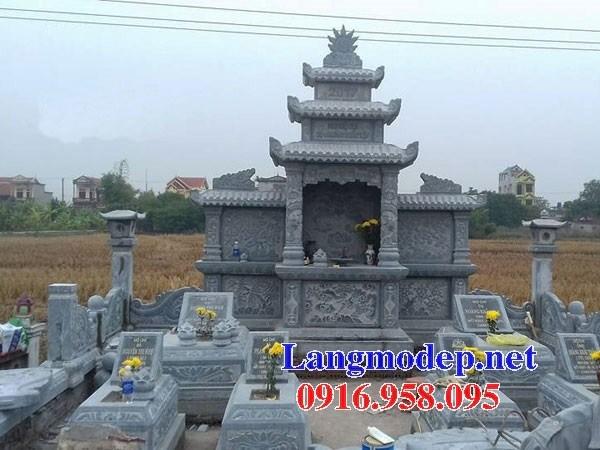 Mẫu củng thờ chung nghĩa trang gia đình dòng họ bằng đá tại Kiên Giang