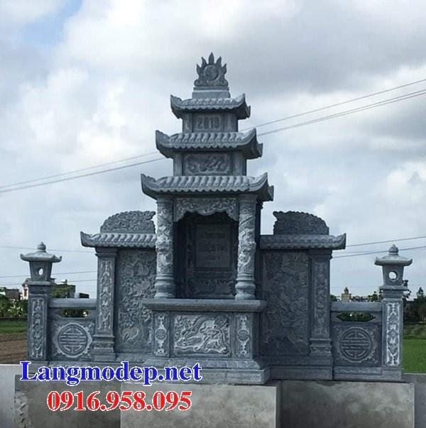 Mẫu lăng thờ chung nghĩa trang gia đình dòng họ bằng đá mỹ nghệ Ninh Bình tại Bến Tre