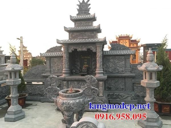 Mẫu lăng thờ chung nghĩa trang gia đình dòng họ bằng đá tại Bến Tre
