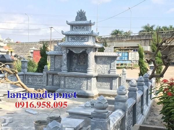 Mẫu lăng thờ chung nghĩa trang gia đình dòng họ bằng đá thiết kế đẹp tại Bến Tre