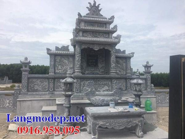 Mẫu lăng thờ chung nghĩa trang gia đình dòng họ bằng đá thiết kế hiện đại tại Bến Tre