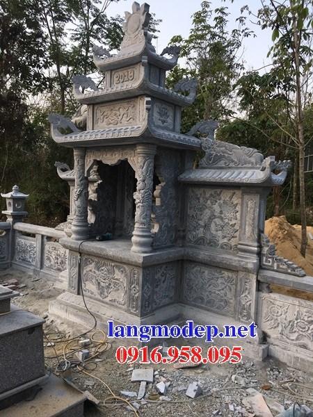 Mẫu lăng thờ chung nghĩa trang gia đình dòng họ bằng đá xanh Thanh Hóa tại Bến Tre