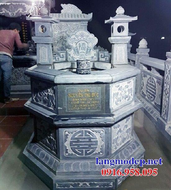 Ýnghĩa mộ bát giác lục lăng bằng đá điêu khắc rồng đẹp tại Quảng Trị