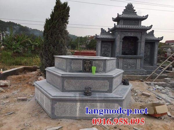 Ýnghĩa mộ bát giác lục lăng bằng đá tự nhiên nguyên khối đẹp tại Quảng Trị
