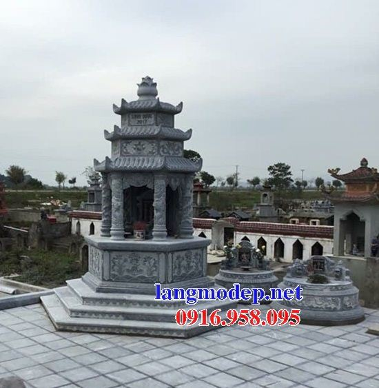 Ýnghĩa mộ bát giác lục lăng bằng đá xanh Thanh Hóa đẹp tại Quảng Trị