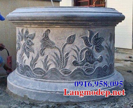 Bán báo giá mộ tổ tròn bằng đá chạm khắc hoa văn tinh xảo đẹp tại Bắc Kạn