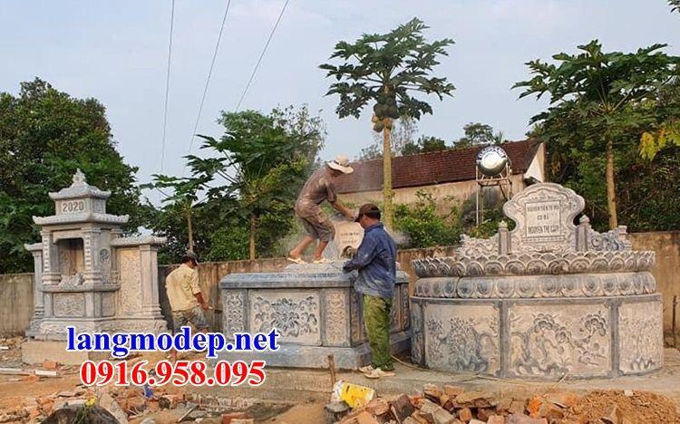 Hình ảnh mộ tròn bằng đá chạm trổ tứ quý bán tại Cao Bằng
