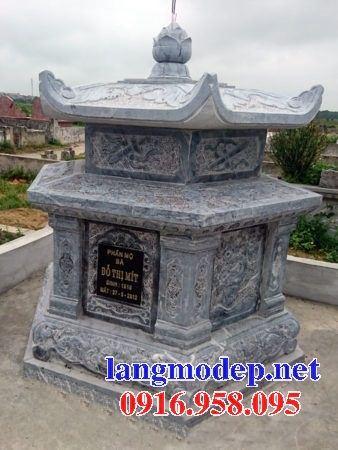 Lăng mộ hình bát giác hiện đại bằng đá tại Hà Tĩnh