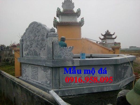 Lăng mộ hình bát giác lục lăng hiện đại bằng đá nguyên khối tại Hà Tĩnh