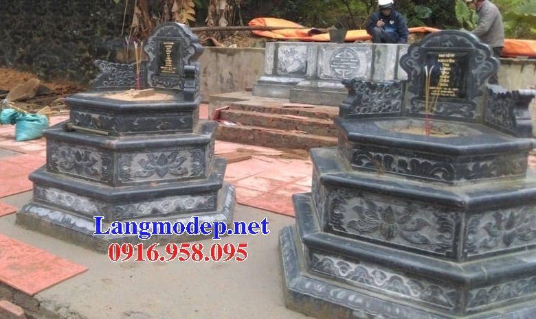 Lăng mộ hình bát giác lục lăng hiện đại bằng đá tự nhiên tại Hà Tĩnh