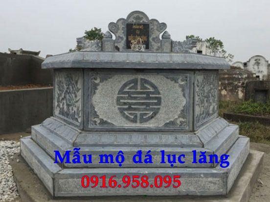 Lăng mộ hình bát giác lục lăng hiện đại bằng đá xanh Thanh Hóa tại Hà Tĩnh
