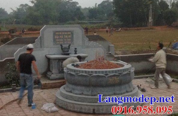 Lăng mộ tổ tròn để hài cốt bằng đá thiết kế hiện đại tại Cần thơ