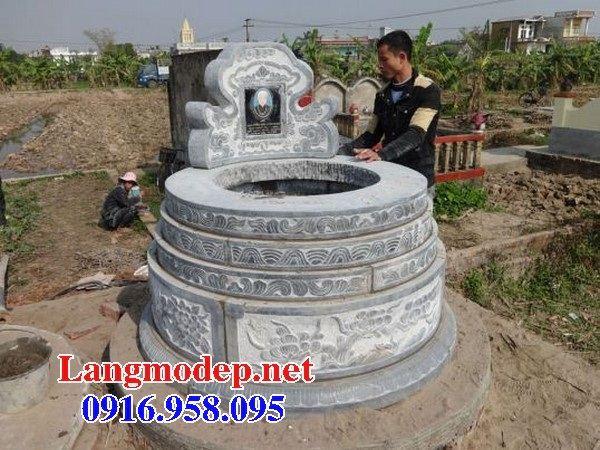 Lăng mộ tròn để hài cốt bằng đá mỹ nghệ Ninh Bình tại Cần thơ