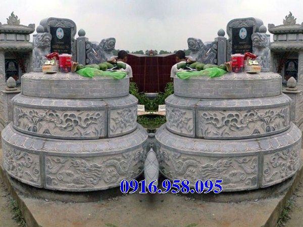 Lăng mộ tròn bằng đá chạm khắc hoa văn tinh xảo bán tại SócTrăng