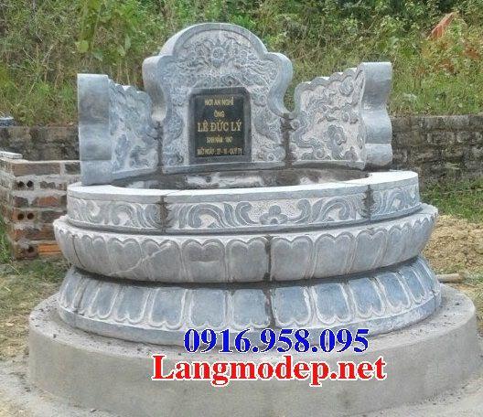 Lăng mộ tròn bằng đá tự nhiên nguyên khối bán tại Bà Rịa Vũng Tàu