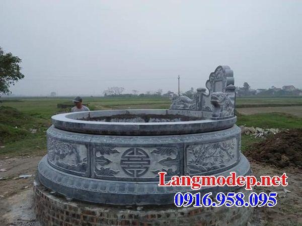 Lăng mộ tròn bằng đá tự nhiên tại An Giang