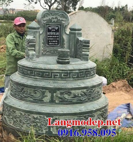 Lăng mộ tròn bằng đá xanh rêu cao cấp bán tại Bà Rịa Vũng Tàu