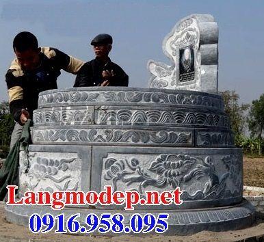 Lăng mộ tròn kích thước lớn bằng đá chạm khắc hoa văn tinh xảo tại Tây Ninh