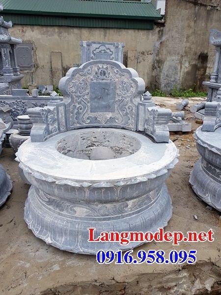 Lăng mộ tròn kích thước lớn bằng đá thiết kế đẹp tại Tây Ninh