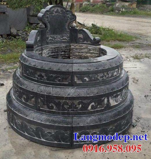 Lăng mộ tròn kích thước lớn bằng đá xanh đen cao cấp tại Tây Ninh