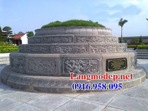 Lăng mộ tròn kích thước phong thủy bằng đá tại Cà Mau