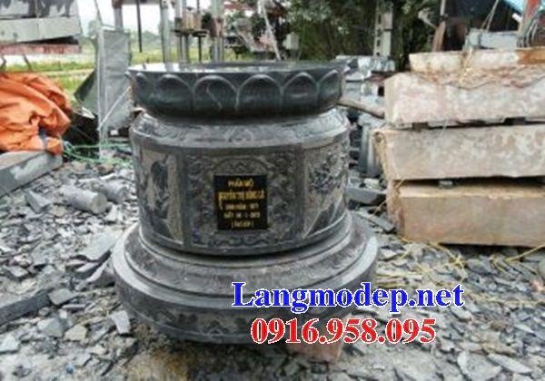 Lăng mộ tròn kích thước phong thủy bằng đá thiết kế đẹp tại Cà Mau