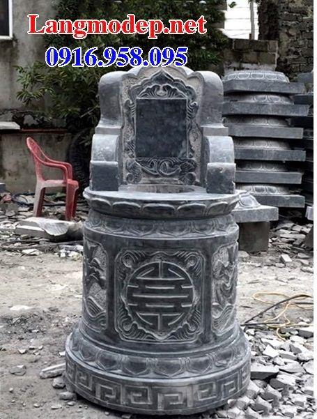 Lăng mộ tròn kích thước phong thủy bằng đá xanh tự nhiên tại Cà Mau