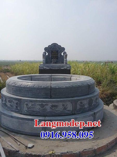 Mẫu lăng mộ tròn bằng đá chạm khắc hoa văn tinh xảo bán tại Tiền Giang
