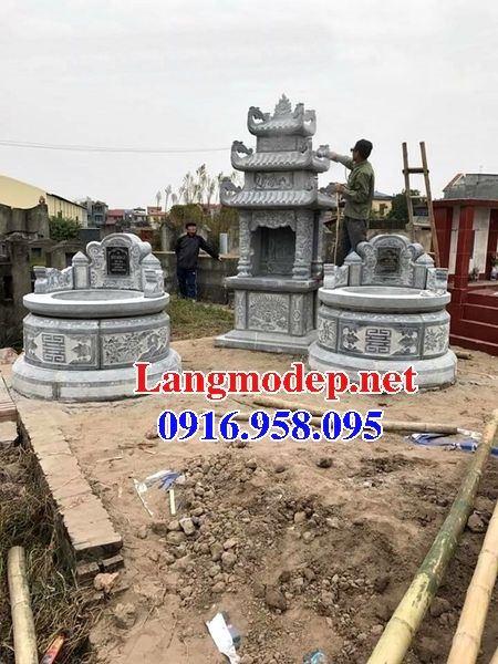 Mẫu lăng mộ tròn bằng đá xanh tự nhiên bán tại Tiền Giang