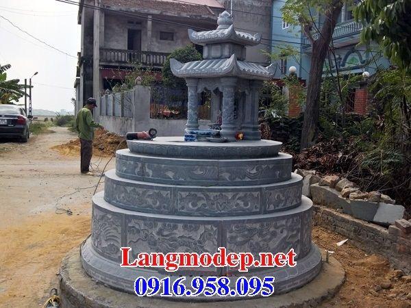 Mẫu mộ đá tròn đẹp nhất Việt Nam tại Hậu Giang