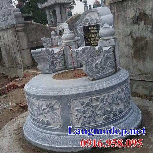 Mẫu mộ đá tròn bán sẵn tại Kiên Giang