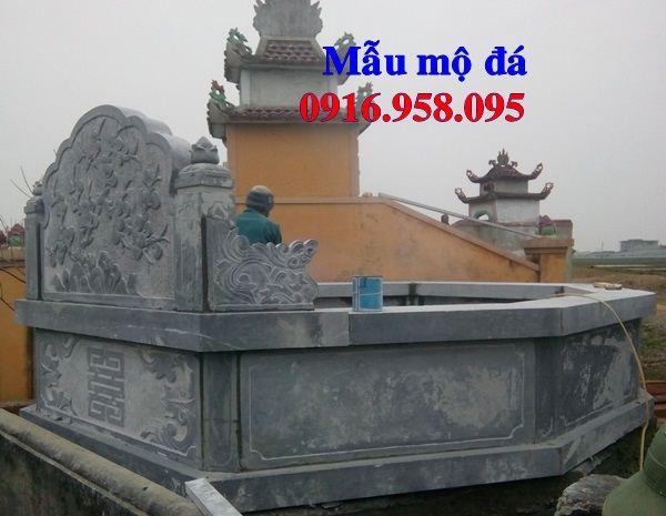 Mẫu mộ bát giác bằng đá nguyên khối bán tại Nghệ An