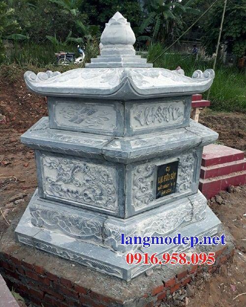 Mẫu mộ lục lăng bát giác bán sẵn bằng đá điêu khắc rồng phượng tại Quảng Nam