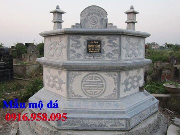 Mẫu mộ lục lăng bát giác bán sẵn bằng đá xanh Thanh Hóa tại Quảng Nam