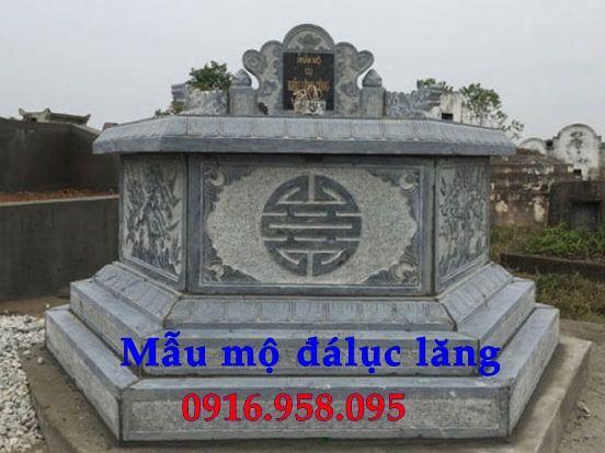Mẫu mộ lục lăng bát giác bán sẵn bằng đá xanh nguyên khối tại Quảng Nam