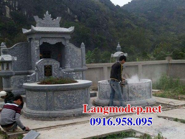 Mẫu mộ tổ tròn đẹp nhất Việt Nam bằng đá tự nhiên nguyên khối tại Hậu Giang