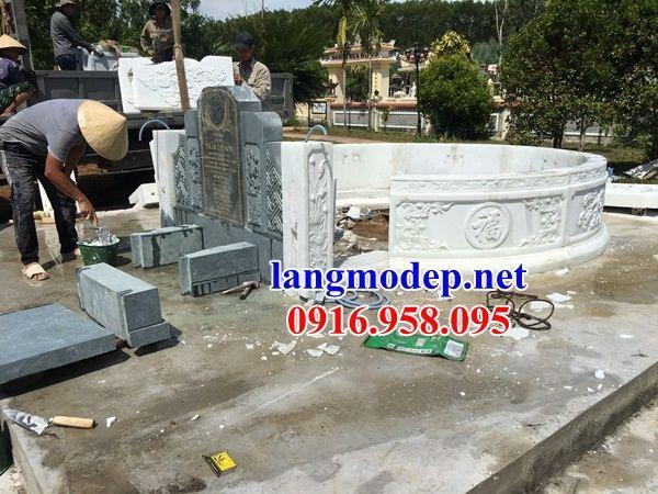 Mẫu mộ tổ tròn đẹp nhất Việt Nam bằng đá trắng nguyên khối tại Hậu Giang