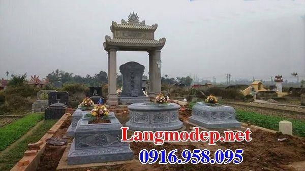 Mẫu mộ tổ tròn bằng đá mỹ nghệ kích thước chuẩn phong thủy đẹp tại Bình Phước