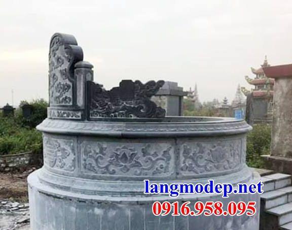 Mẫu mộ tổ tròn bằng đá mỹ nghệ thiết kế hiện đại đẹp tại Bình Phước