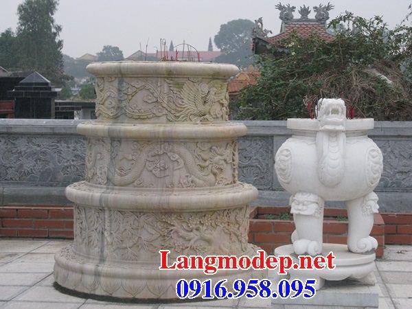 Mẫu mộ tròn đẹp nhất Việt Nam bằng đá vàng cao cấp tại Hậu Giang