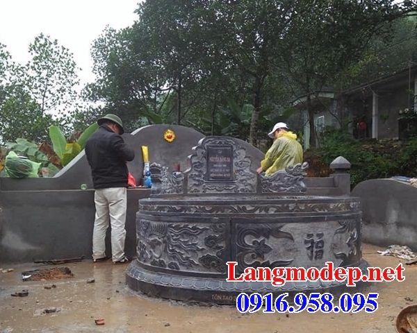 Mẫu mộ tròn bán sẵn bằng đá cất để tro hài cốt hỏa táng tại Kiên Giang
