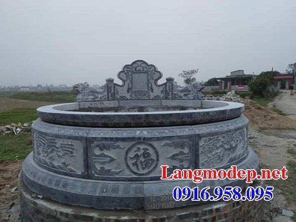 Mẫu mộ tròn bán sẵn bằng đá xanh nguyên khối tại Kiên Giang