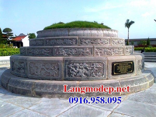 Mẫu mộ tròn bằng đá mỹ nghệ đẹp tại Bình Phước