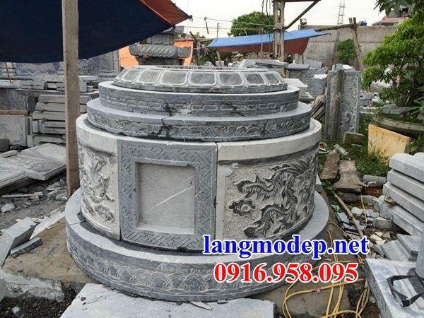 Mẫu mộ tròn bằng đá mỹ nghệ Ninh Bình đẹp tại Bình Phước