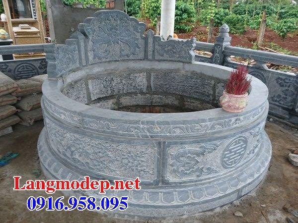 Mẫu mộ tròn bằng đá mỹ nghệ chạm trổ tứ quý đẹp tại Bình Phước