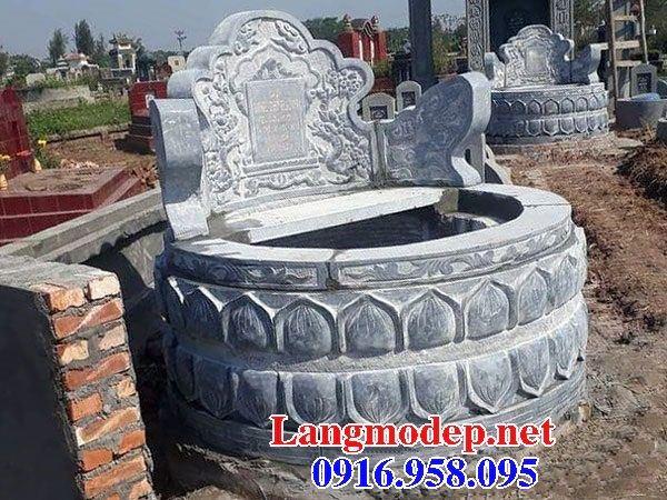 Mẫu mộ tròn cất tro cốt bằng đá mỹ nghệ Ninh Bình tại Bến Tre