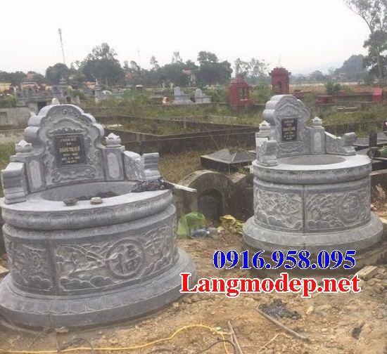 Mẫu mộ tròn thiết kế đẹp bằng đá xanh tự nhiên tại Đồng Nai